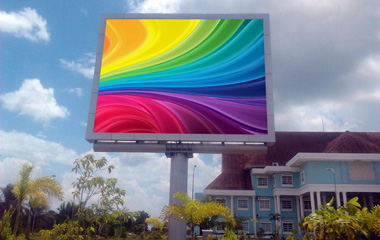 P10mm DIP Outdoor Advertising LED Display In Batam Indonesia