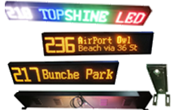 Bus on-board LED screen