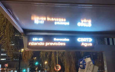 Outdoor Bus Station LED Sign