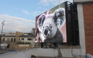 P10-DIP Outdoor Advertising LED display in Puebla