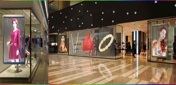 Transparent Glass windows LED Display